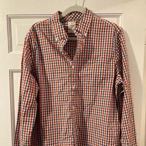 Gap Men's Checkered Button-Down Shirt, Large